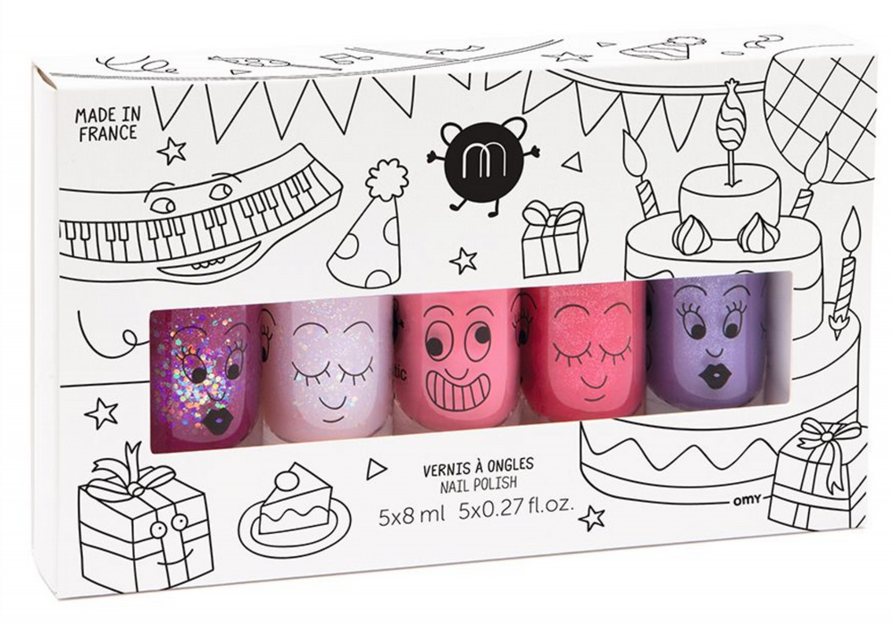 nailmatic® kids - water based nail polish 5 Pack - PARTY